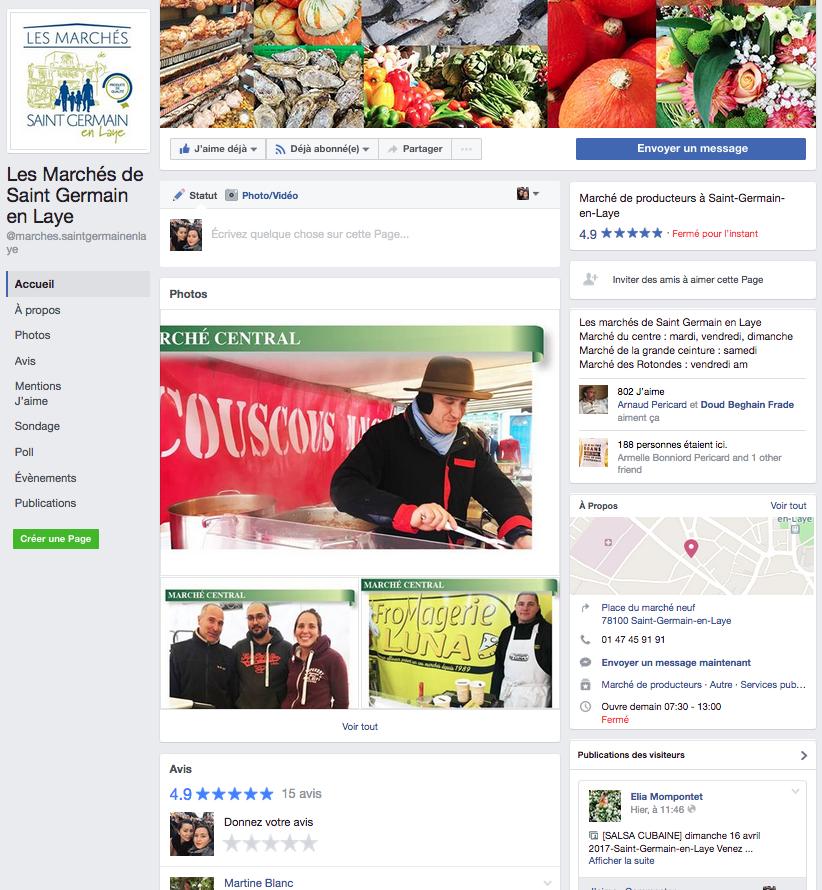 facebook des marchés